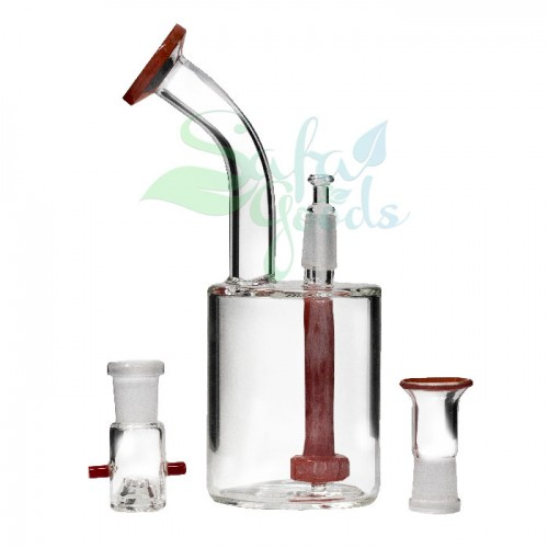 8 Inch Glass Oil Can Water Pipe