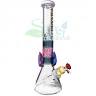 16 Inch Tattoo Beaker Ice Catcher | Multi-color