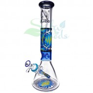 15 Inch Tattoo Beaker Ice Catcher | Multi-color