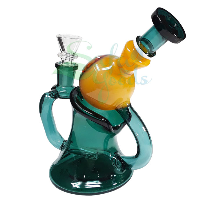 6 Inch Layback Recycler Water Pipe