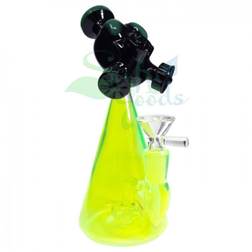 7 Inch Glass Gas Mask Head Water Pipe