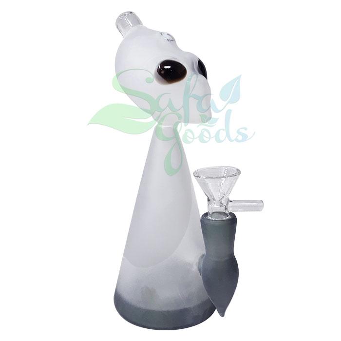 7 Inch Glass Alien Head Water Pipe
