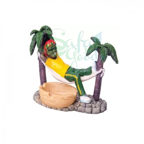Rasta Sculpture Ashtray - Chillin