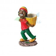 Rasta Sculpture Ashtray - Basket