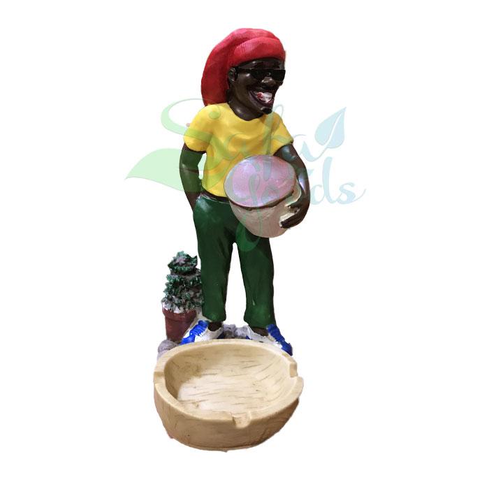 Rasta Sculpture Ashtray - Bongo