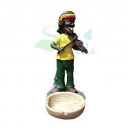 Rasta Sculpture Ashtray - Violin Yellow