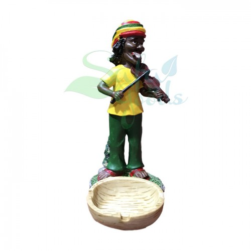 Rasta Sculpture Ashtray - Violin Yellow