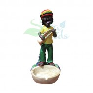 Rasta Sculpture Ashtray - Trumpet Yellow