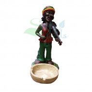 Rasta Sculpture Ashtray - Violin Red