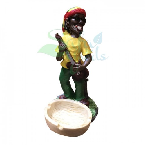 Rasta Sculpture Ashtray - Guitar