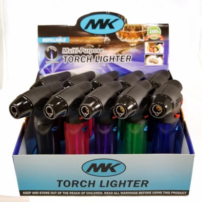 MK Windproof Pistol-Grip Torch Lighters - 10pc