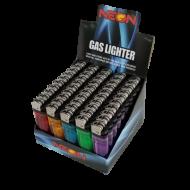 Neon Premium Disposable Butane Lighters MASTERCASE