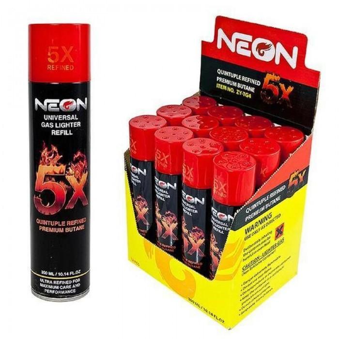 Neon 5x Refined Butane 12CT Case