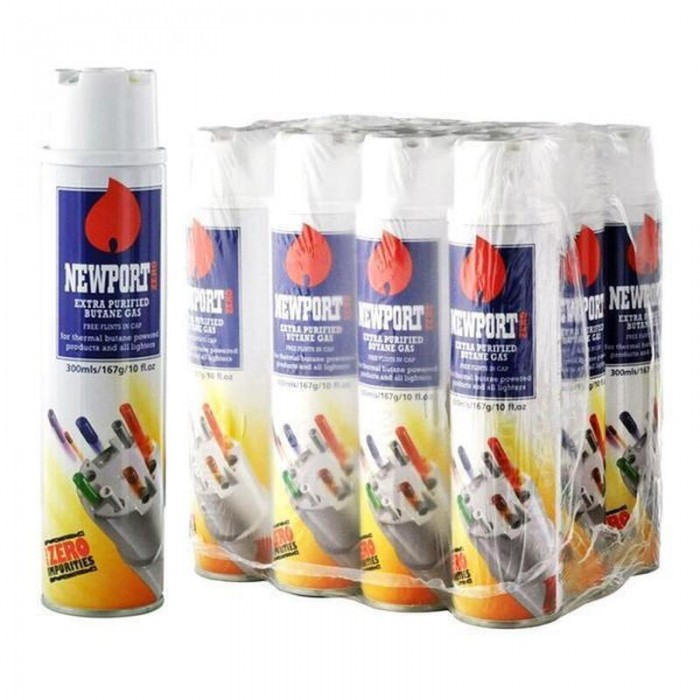 Newport Zero Extra Refined Butane 12CT Case