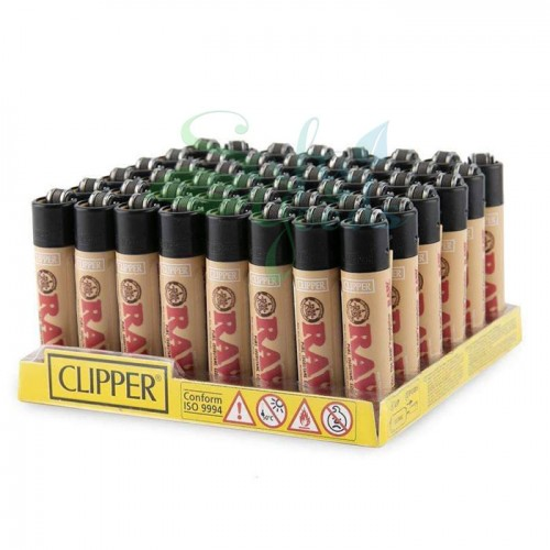Clipper RAW Butane Lighters Display Box
