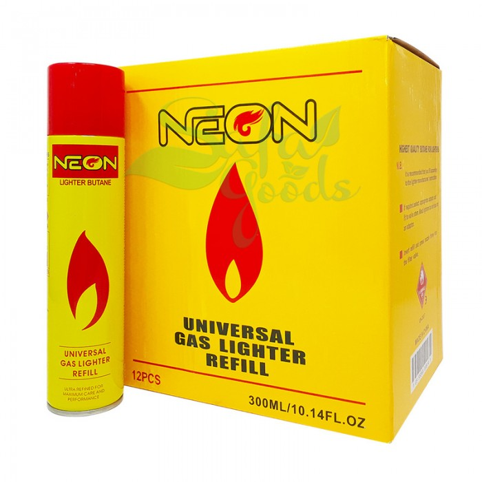 Neon Butane 300mL | Universal Gas Lighter Ultra Refined 12PC