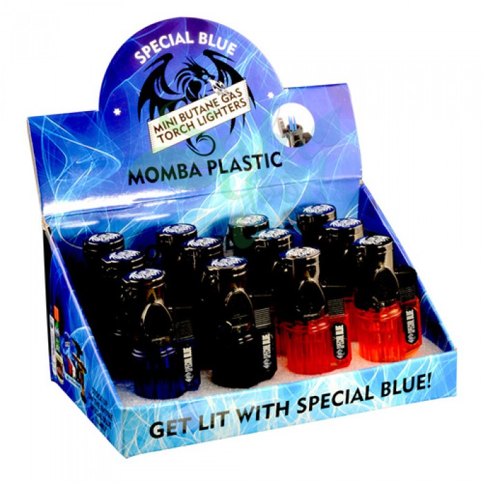 Special Blue - MomBa Plastic Lighter Display - 12PC