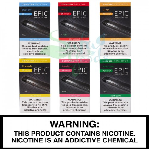Epic Series Disposables by JAK - Tobacco Free Nicotine (5%)