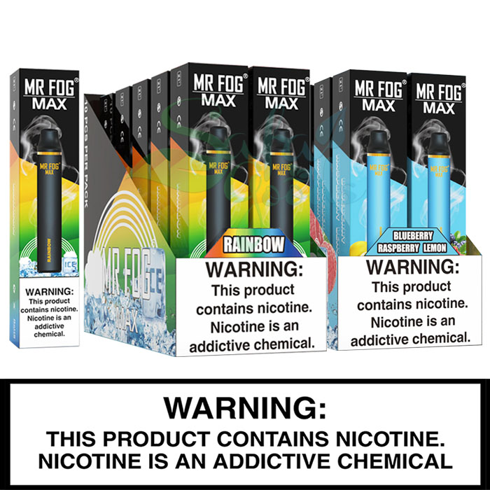 Mr Fog Max Disposable Vape Devices 10PC Display Box