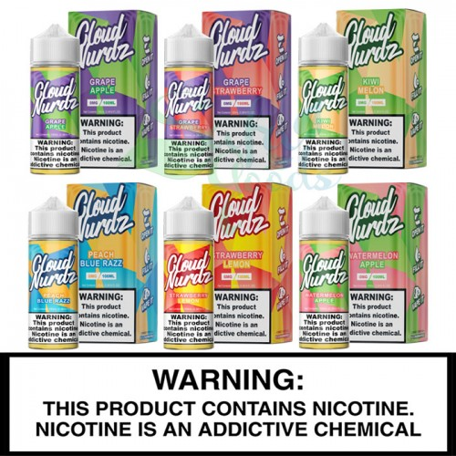 Cloud Nurdz E-Liquids 100mL Freebase Bottles