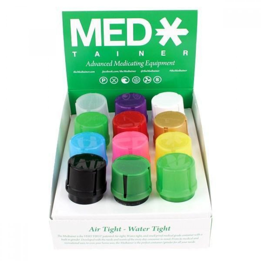 Medtainer - Smell Proof Grinder/Stash Combo - 12pack