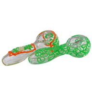 4 in. Glow in the Dark Handpipe with Line Design