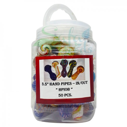 Inside-Out Glass Handpipes   50PCS   2.5in.