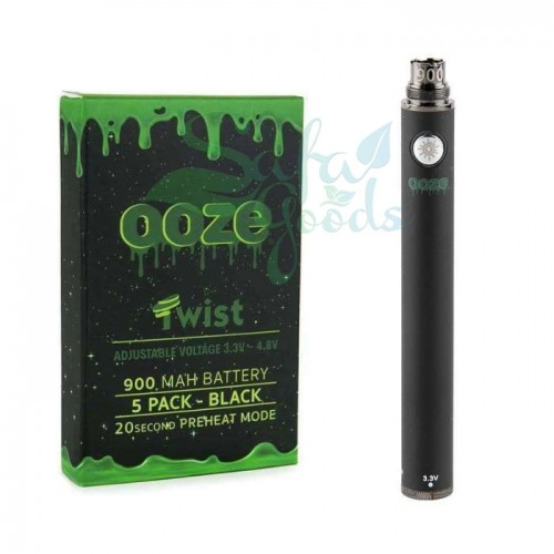 Ooze Twist Battery 5PK - Black