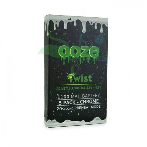 Ooze Twist Battery 5PK - Chrome