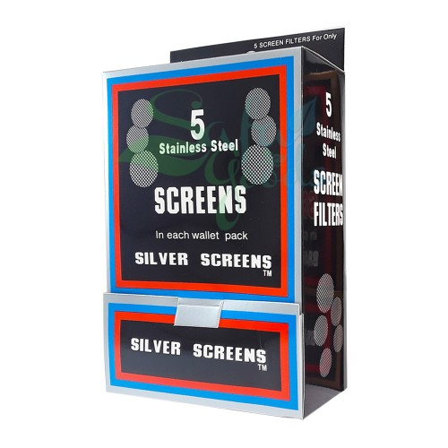 Glass Handpipe Screens - Box of 100 Display