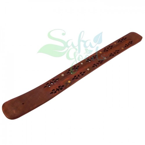 Flat Wooden Incense Holder