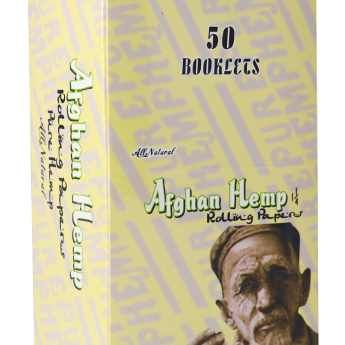 Afghan Hemp Rolling Papers 1.25in.| All natural Hemp 50 booklets