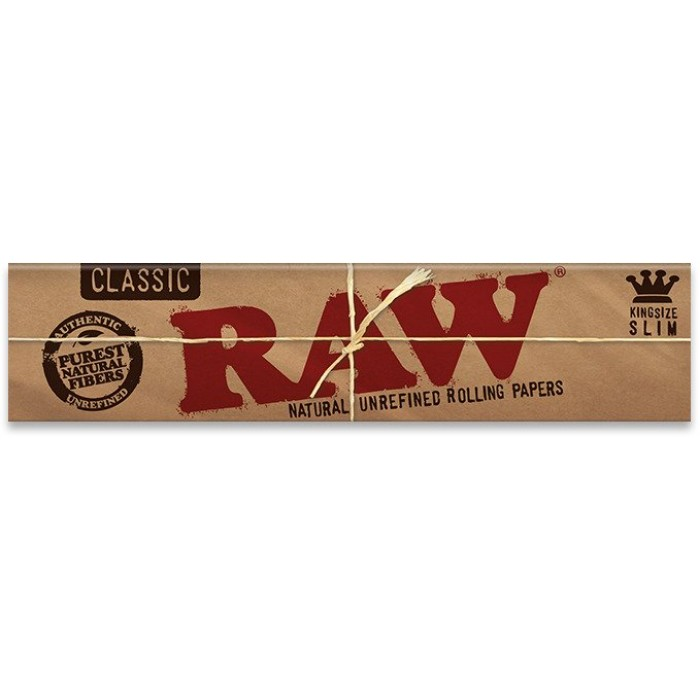 RAW Classic King Size Slim Rolling Papers - Box