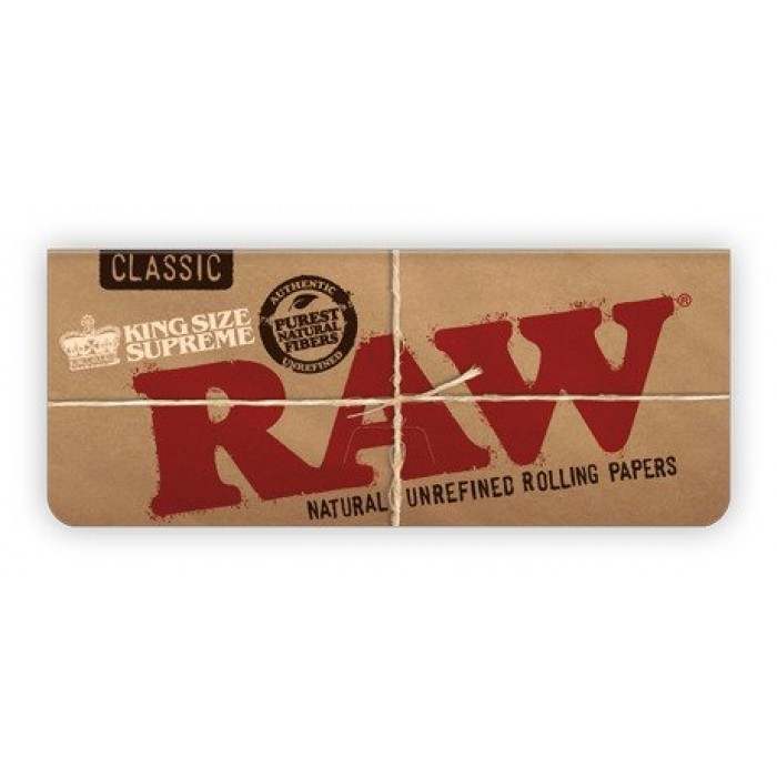 RAW Classic Creaseless Kingsize Supreme Rolling Papers - Box