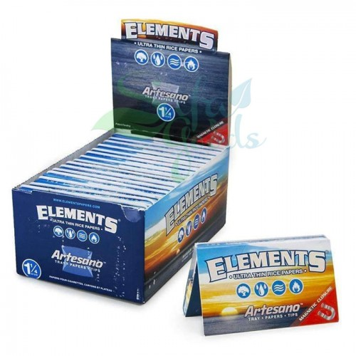 Elements - Artesano Rolling Papers - 1-1/4 inch 15ct