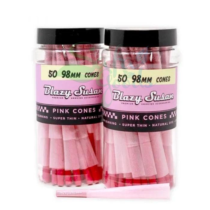Blazy Susan - Pre Rolled Cones - Pink Cones 98mm