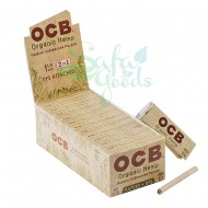 OCB Organic Hemp Rolling Papers with Tips 24CT Display Box