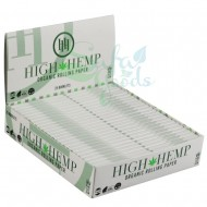 High Hemp Rolling Papers Display Box of 25PC