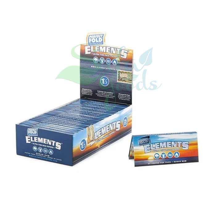 Elements - Perfect Fold Rolling Rice Papers - 1-1/4 inch 25CT