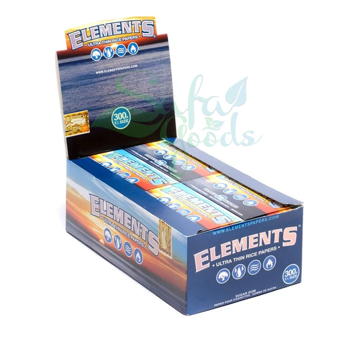 Elements - Ultra Thin Rice Rolling Papers - 1-1/4 inch 20ct