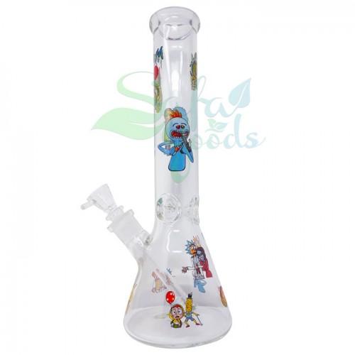 14 Inch Beaker Shape Water Pipe - Various Colors