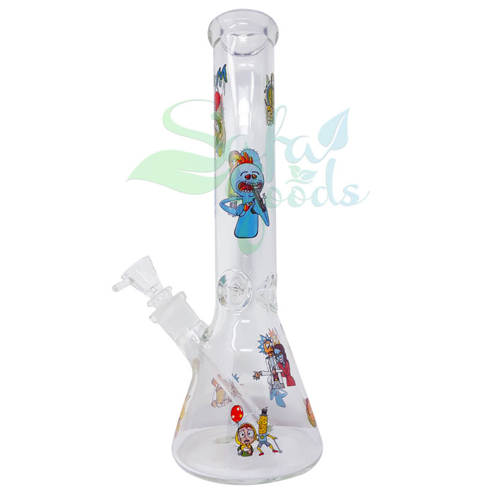 14 Inch Beaker Shape Water Pipe - Various Colors