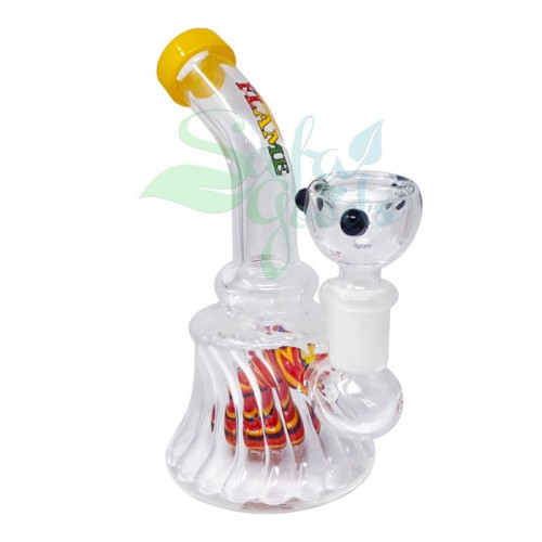 6 Inch Banger Hanger Water Pipe - Red