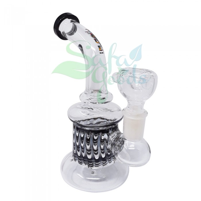 7 in. Clear Banger Hanger with Wrap and Rake - Various Colors