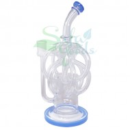 12 Inch Bent Neck Multiple Recycler Water Pipe