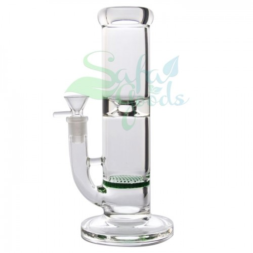 9.5 Inch Straight Honeycomb Perc Ice Catcher Water Pipe