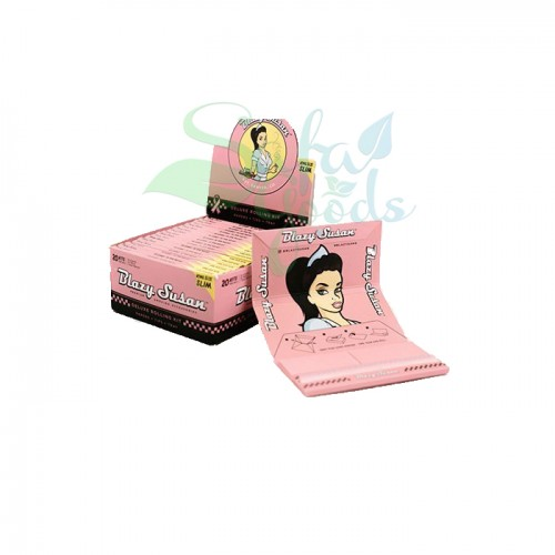 Blazy Susan - Pink Rolling Papers - King Size Slim Deluxe