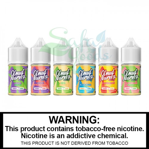 Cloud Nurdz Salts 30mL Salt Nic Bottles - Tobacco Free Nicotine