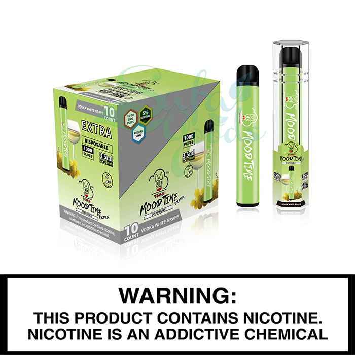 MoodTime Extra Disposables Vape Devices 10 PC Display Box