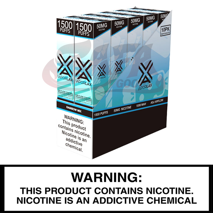 Vapor Lax Adjustable Disposable Vapes [1500 Puffs] 10pc